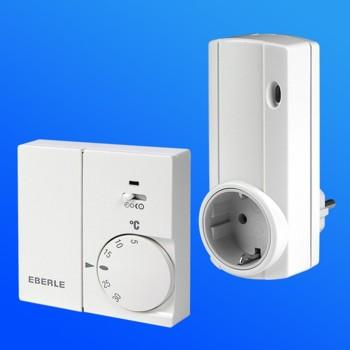 thermostat rtrf mit funkverbindung f r elektroheizung ebay. Black Bedroom Furniture Sets. Home Design Ideas