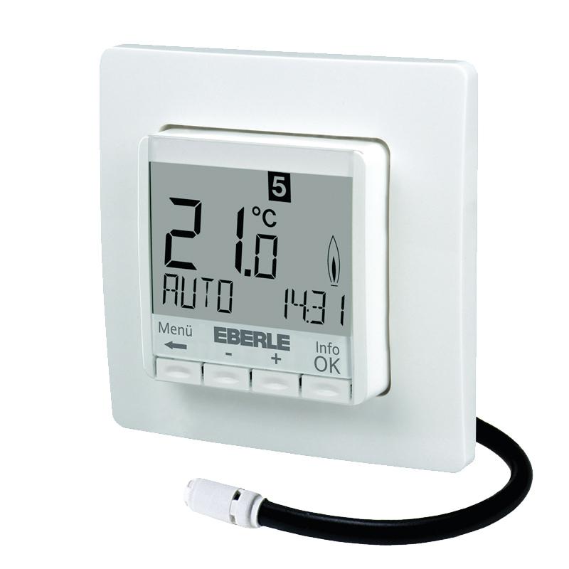 Eberle Digitales Thermostat für Fussbodenheizung FIT 3L weiß 201856