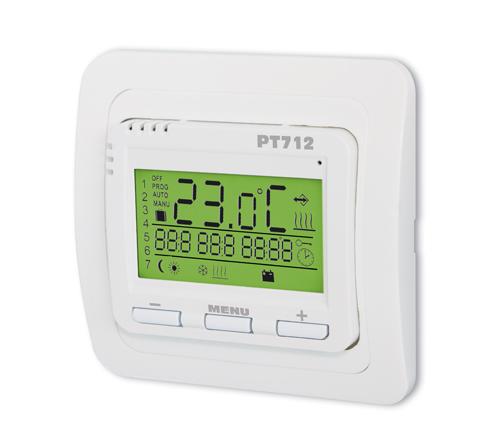 digitaler thermostat pt712 f r fu bodenheizung ohne f hler. Black Bedroom Furniture Sets. Home Design Ideas