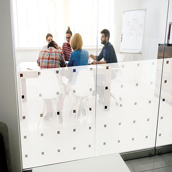 Dekorfolie Matte Folie mit klaren Karos (Rollenbreite 152cm) 202007
