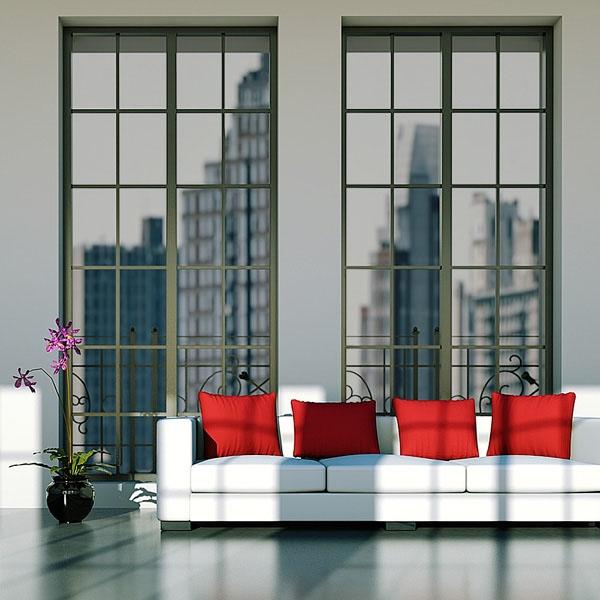 Sonnenschutzfolie Silber Mittel Innenmontage (Rollenbreite 122 cm)
