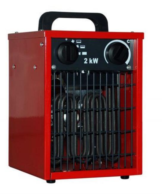 Elektroheizlüfter Elektroheizer 2,0 kW - 2000 Watt