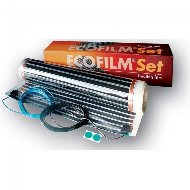Ecofilm Heizfolie für Holzboden 80 W/m²  8m x 1,00m  624 Watt