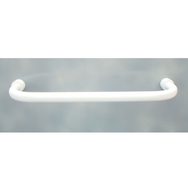 Handtuchbügel gebogen 620 mm weiß