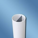 PVC Rohr 2- Wege NW 100 - Länge 395mm