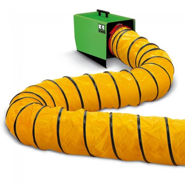 Warmluftschlauch 305 mm inkl. Verschlussgurt  - Länge 7,6m