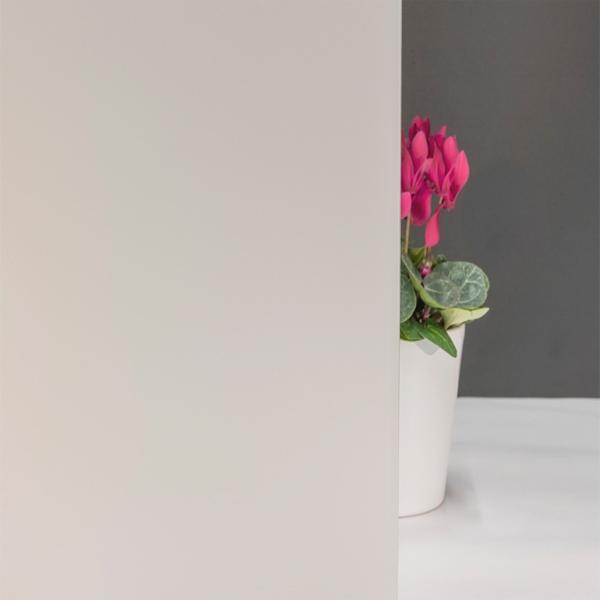 Milchglasfolie Weiß seidenmatt (Rollenbreite 76cm)