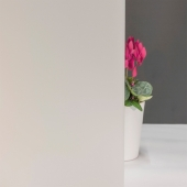 Milchglasfolie Weiß seidenmatt (Rollenbreite 152cm)